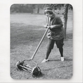 Push Reel Mower, 1910s Mouse Pad
