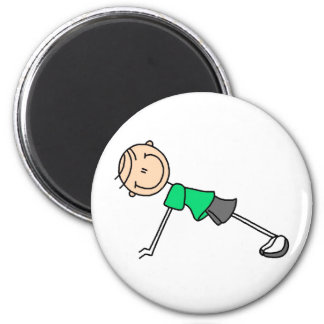 Push Ups Stick Figure Magnet