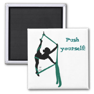 Push yourself! magnet