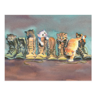PUSS in BOOTS by SHARON SHARPE Postcard
