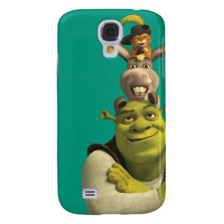Puss In Boots, Donkey, And Shrek Samsung Galaxy S4 Covers
