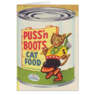 Puss In Boots Vintage Design- Retro Look Card