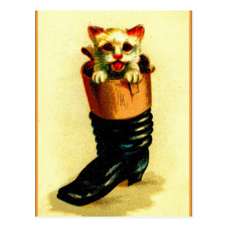 Puss 'n Boot Postcard