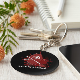 Pussing Eye Casket [KEYCHAIN] Basic Round Button Key Ring