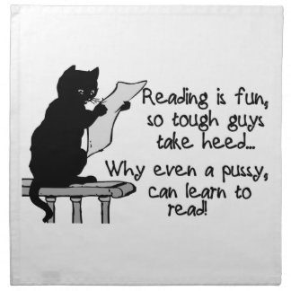 Pussy Can Read Funny Cat Napkins