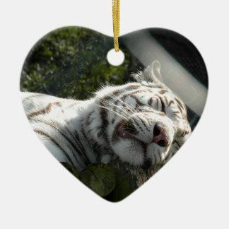 Pussy Cat Ceramic Heart Decoration