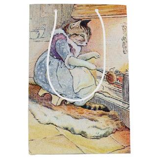 Pussy Cat Cooking Medium Gift Bag