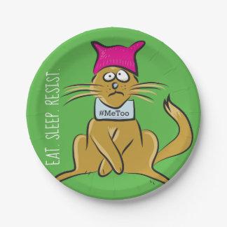 Pussy Cat resist #metoo paper plates
