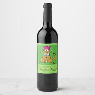 Pussy Cat resist #metoo wine bottle label