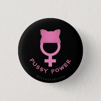 Pussy Hat Womens Power 3 Cm Round Badge