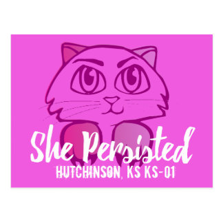 Pussy Persisted (Click Blue Customize Button Postcard