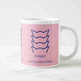 Pussy Power Cat Ears Pink Persist Resist United Large Coffee Mug