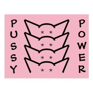Pussy Power Cat Ears Pink Resistance Women Group Postcard