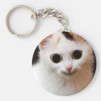 Pussy white  Cat Keychain