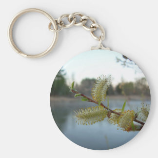 Pussy Willow Flowers Key Chain