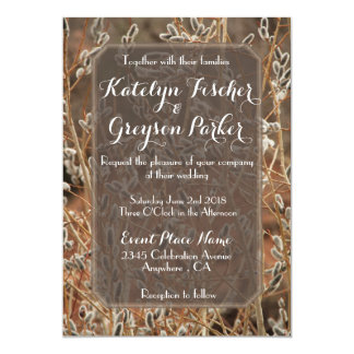 Pussy Willow Wedding Invitation