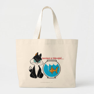 Pussyfoot Grumpy Kitty Large Tote Bag
