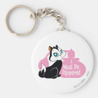 Pussyfoot I Must Be Pampered Basic Round Button Key Ring