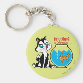 Pussyfoot Innocence is Overrated Basic Round Button Key Ring