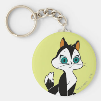 Pussyfoot Let's Play Basic Round Button Key Ring