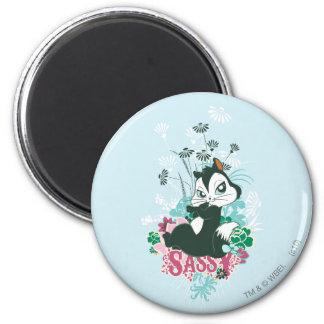 Pussyfoot Sassy 6 Cm Round Magnet