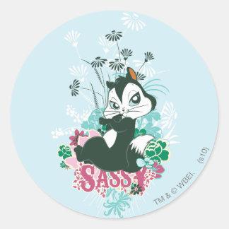 Pussyfoot Sassy Round Sticker