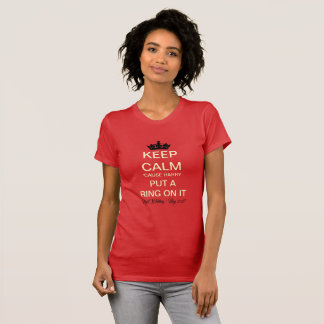 Put A Ring On It Royal Wedding T-Shirt (Red)