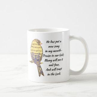 Put a Song in my Heart Bible Scripture Bird Coffee Mug