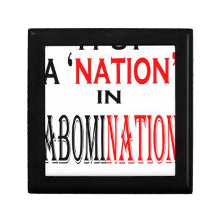 put abomination nation naming nonsense weird black gift box
