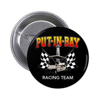 Put-In-Bay Racing Team Pinback Buttons
