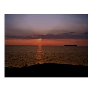 Put-In Bay sunset Postcard