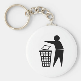Put it in the Bin Basic Round Button Key Ring