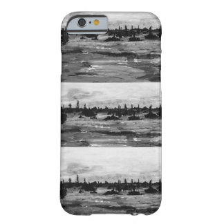 Put-n-Bay Black and White boat painting Barely There iPhone 6 Case