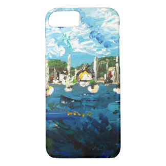 Put-n-Bay Island Boat Painting #2 iPhone 8/7 Case