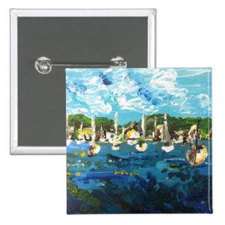 Put-n-Bay Painting #1 15 Cm Square Badge