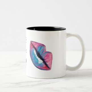 Put on some Lipstick and Live a little! Two-Tone Coffee Mug