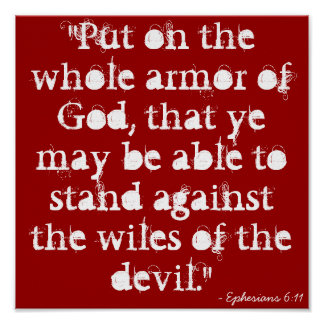 """""""Put on the whole armor of God, that ye may be ... Poster"""