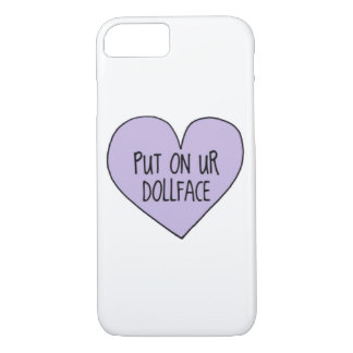 ''Put on your doll face'' Pastel goth Iphone case