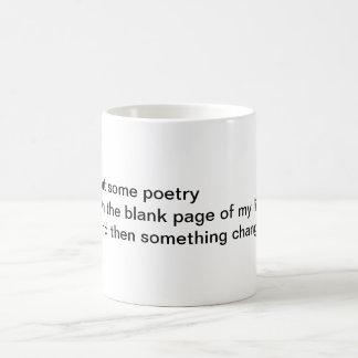 Put some poetry coffee mug