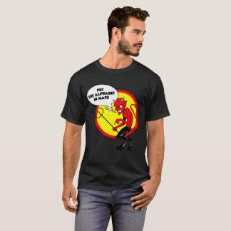 Put the Alphabet in Math Teacher Gift  Apparal T-Shirt