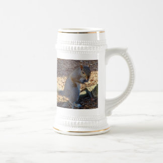 """Put Up Your Dukes!"" Squirrel Beer Stein"