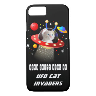 Put your Cat in an Alien Spaceship UFO Sci Fi Film iPhone 8/7 Case