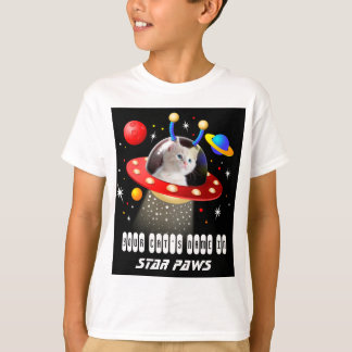 Put your Cat in an Alien Spaceship UFO Sci Fi Film T-Shirt
