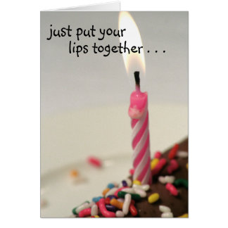 Put your lips together! notecard