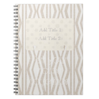 Put Your Notes Together Cream Pattern Notebook