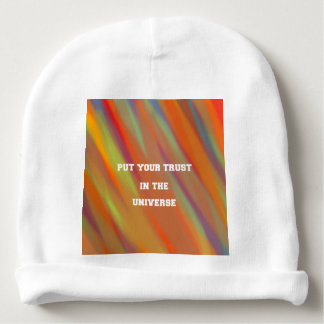 Put your trust in the universe baby beanie