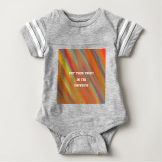 Put your trust in the universe baby bodysuit