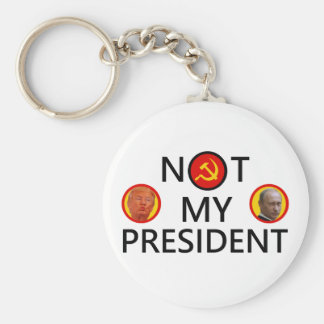 PUTIN IS NOT MY PRESIDENT BASIC ROUND BUTTON KEY RING