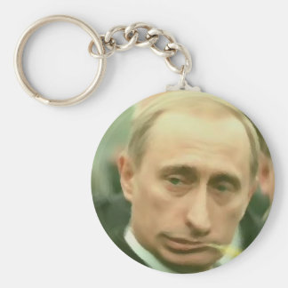 Putin Plan Basic Round Button Key Ring