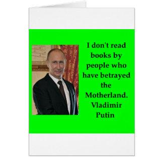 putin quote card